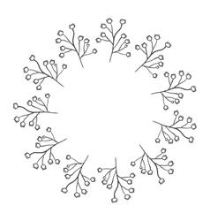 Circular frame of irregular flowers vector