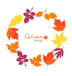 Collection of watercolor leaves vector