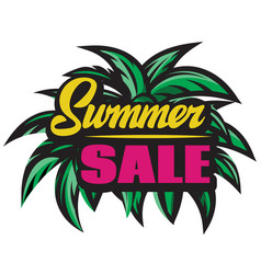 color poster for summer sale with inscription vector image