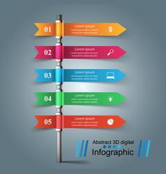 Column five paper infographic vector