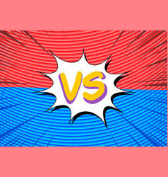 comic fight and duel horizontal concept vector image