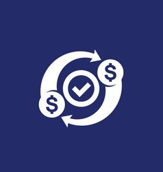 Costs optimization efficiency icon money concept vector