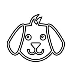 cute dog mascot silhouette icon vector image