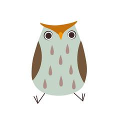 Cute owlet sitting adorable owl bird vector