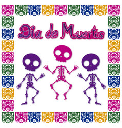 day of the dead skull 2 vector image