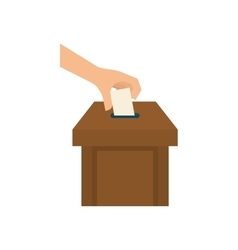 Democracy voting vote vector image