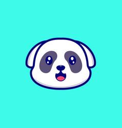 Dog cute vector