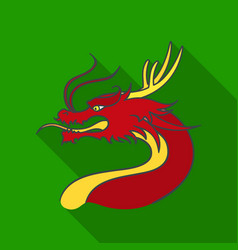 dragon icon in flate style isolated on white vector image