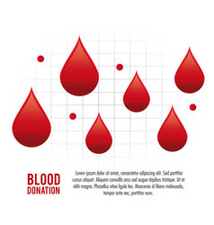 Drop pulse cardio blood donation icon vector