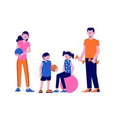 Family sport icon vector