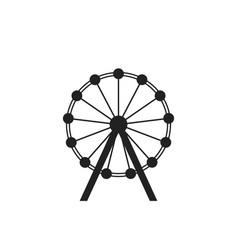 ferris wheel icon carousel in park icon amusement vector image