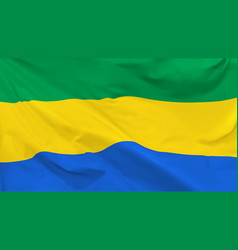 Flag gabonese republic vector