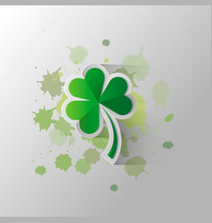 Four leaf clover isolated on a background of paint vector