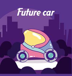 Future car concept vector