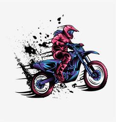 girl motocross design vector image