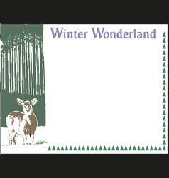 greeting card concept with word winter vector image