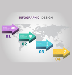 infographic design template with arrows vector image