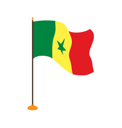 isolated flag of senegal vector image