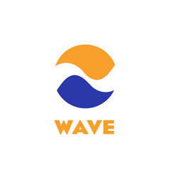 isolated logo wave circle abstract vector image