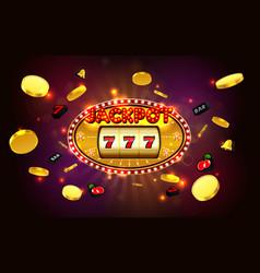 Jackpot lucky wins golden slot machine casino vector