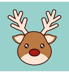 Kawaii reindeer of Christmas season design vector