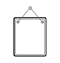 label hanging design vector image