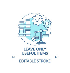 Leave useful items in wardrobe concept icon vector