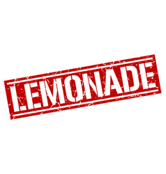 Lemonade square grunge stamp vector