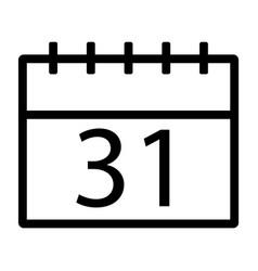 line calendar icon vector image