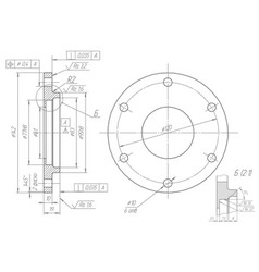 machine-building drawings on a white background vector image