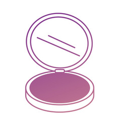 makeup powder isolated icon vector image