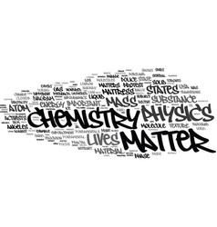 Matter word cloud concept vector
