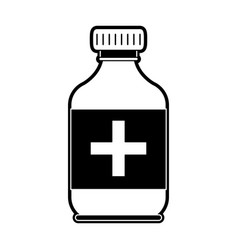 medicine bottle isolated vector image
