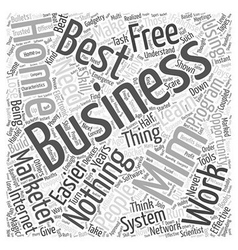 Mlm home business word cloud concept vector