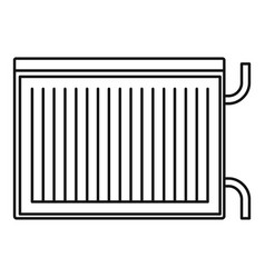 modern radiator icon outline style vector image
