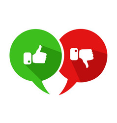 modern thumbs up and thumbs down icons vector image