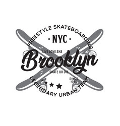 new york city brooklyn theme t-shirt graphics vector image