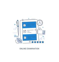 online examination vector image