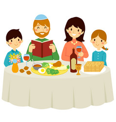 Passover with core family vector