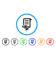 patent rounded icon vector image