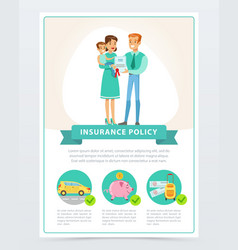property finance and travel insurance family vector image