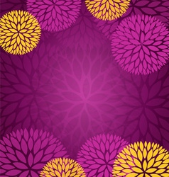 Purple Gold Abstract Flower Background vector