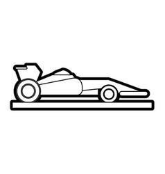 race car silhouette vector image