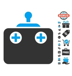 Remote Control Icon With Free Bonus vector