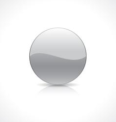 Round silver button vector