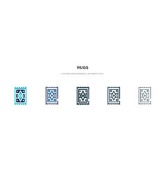 Rugs icon in different style two colored and vector
