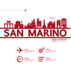 san marino travel destination vector image