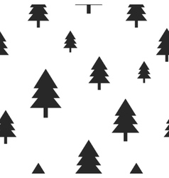 Scandinavian black forest tree on white vector