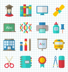 School Colorful Simple Icons vector