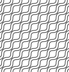 Seamless monochrome wave pattern vector